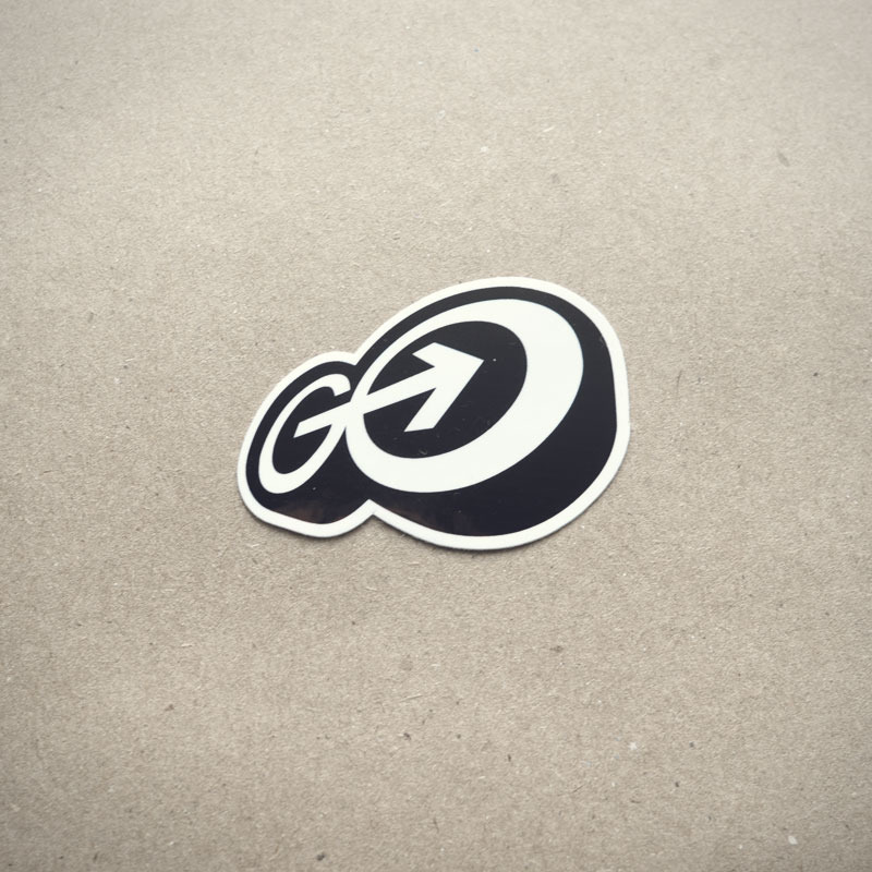gomedia logo sticker21 30 Creative Examples of Sticker Design