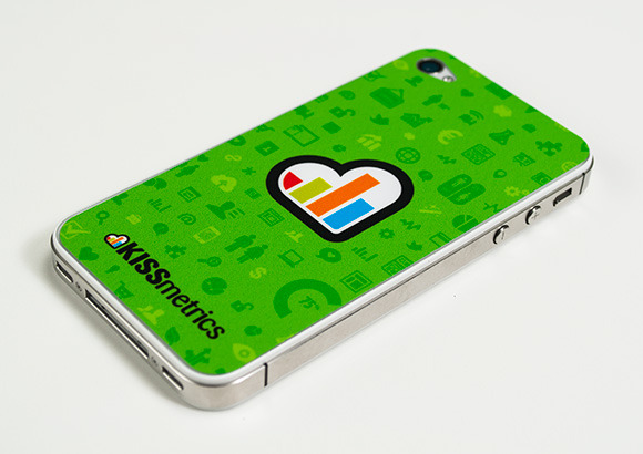 kissmetrics iphone skin r8142370671 30 Creative Examples of Sticker Design