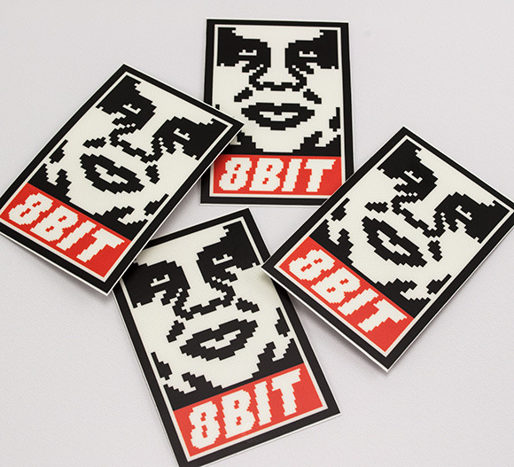 8Bit Obey Stickers