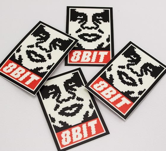 8Bit Obey Stickers