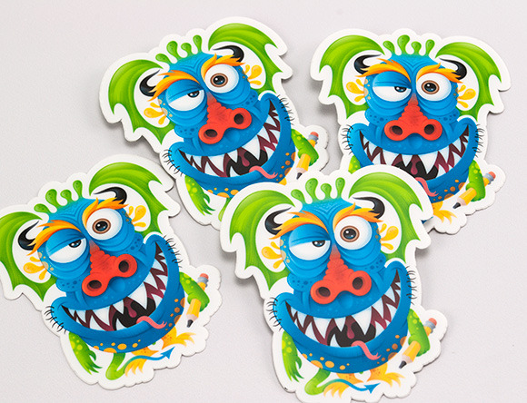 r105888315 monster1 30 Creative Examples of Sticker Design