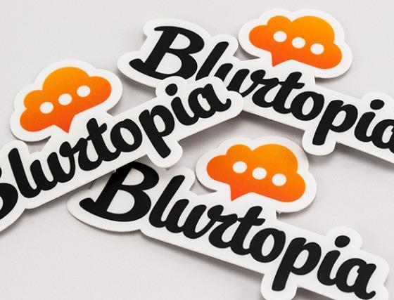 Blurtopia Stickers