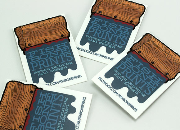 Fish Bone Prints Stickers