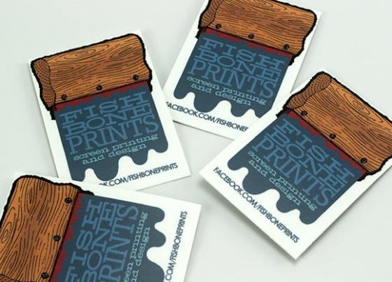 Fish Bone Prints Stickers