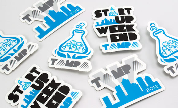 r877010446 startup weekend tampa1 30 Creative Examples of Sticker Design