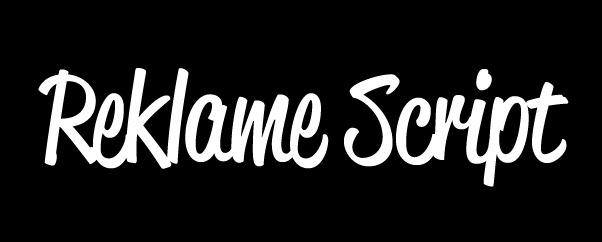 reklamescript1 20 Handy Bold Script Fonts