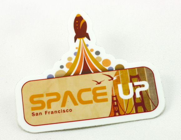 spaceup stickers r0081240171 30 Creative Examples of Sticker Design